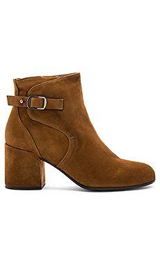 Pura Lopez Short Boot in Cuoio