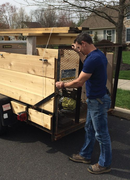 Upgrading A Stripped Down Utility Trailer To Move Mulch