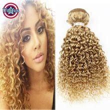 Honey Blonde Brazilian Hair 3 Bundles Blonde Jerry Curly Weave