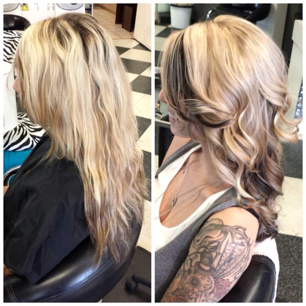Dark Brown Peekaboo Blonde Hair Hair Beauty Hair Styles Hair Dos