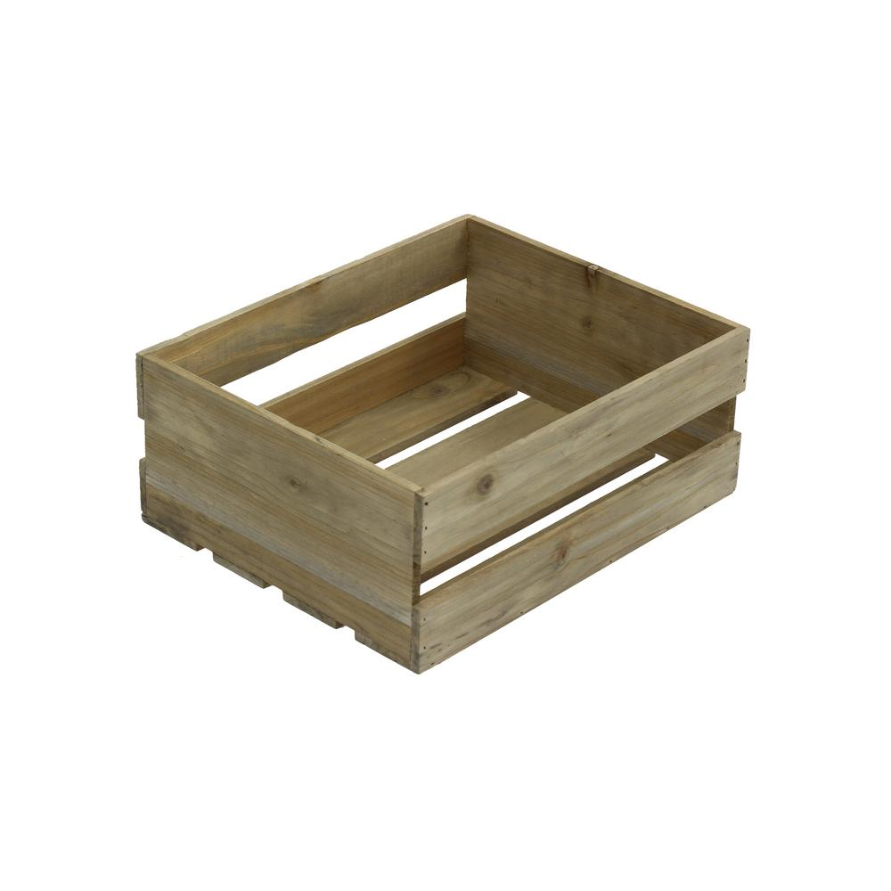 Crates Pallet Small Wood Crate In Weathered Gray 69011 The Home Depot In 2020 Wood Crates Crates Wooden Crates