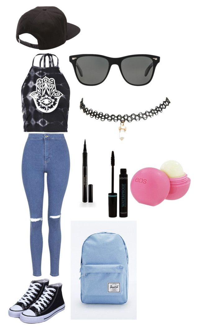 """""""Untitled #321"""" by iuliakalisch ❤ liked on Polyvore featuring Topshop, Boohoo, Herschel Supply Co., Oliver Peoples, Wet Seal, Vans, Elizabeth Arden and Eos"""