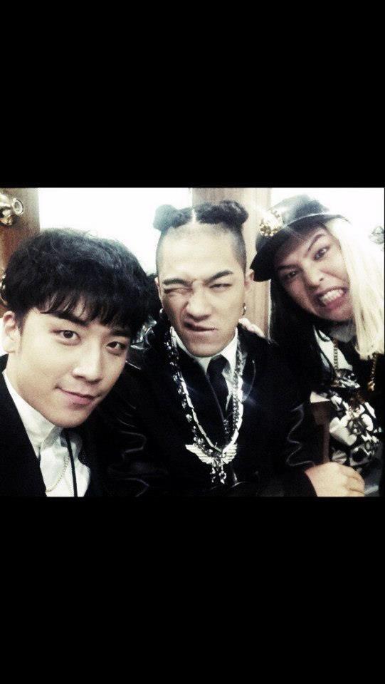 G-Dragon, Taeyang & Seungri @ Gaon Awards (130213)