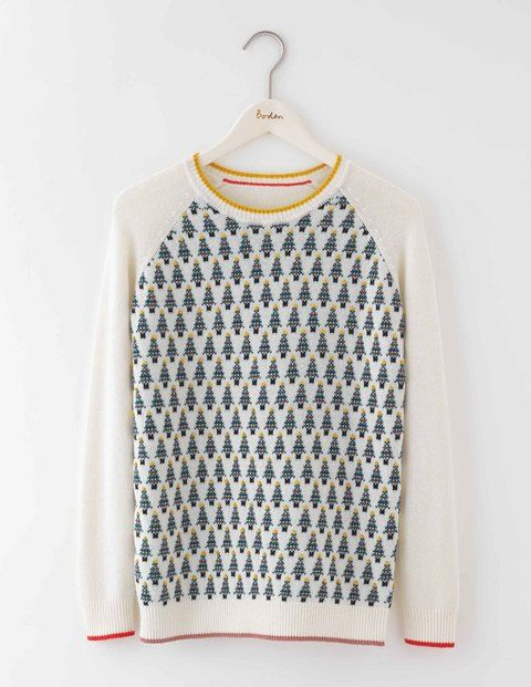 Christmas Tree Jumper WV127 Clothing at Boden | My Boden ...