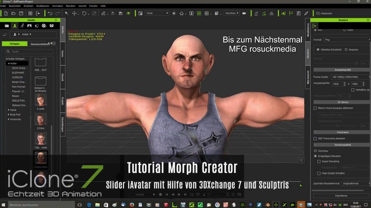 Iclone 7 Tutorial Morph Creator Slider Iavatar Mit Hilfe Von 3dxchange 7 Erste Hilfe Slider Animation