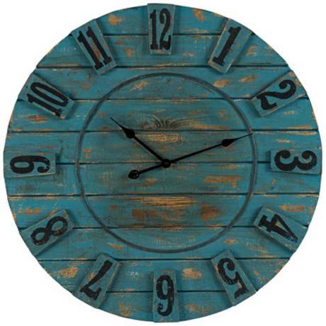 Cooper Classics Schell 33 1 2 Round Wall Clock 5r686 Lamps Plus Oversized Wall Clock Wall Clock Clock
