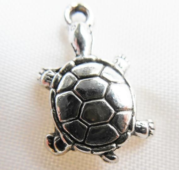 20 Or 50PCs Turtle Charms Wholesale Antiqued Silver Plated Pendants C1139-10