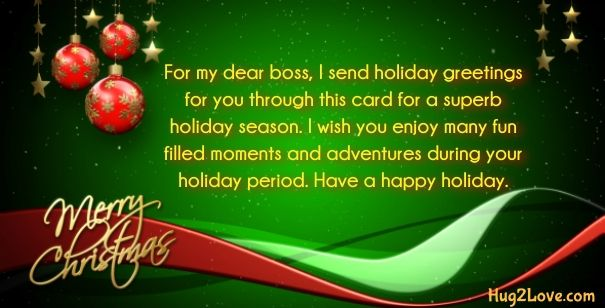 Merry Christmas Card For Boss Merry Christmas Quotes Christmas Feeling Merry Christmas Card