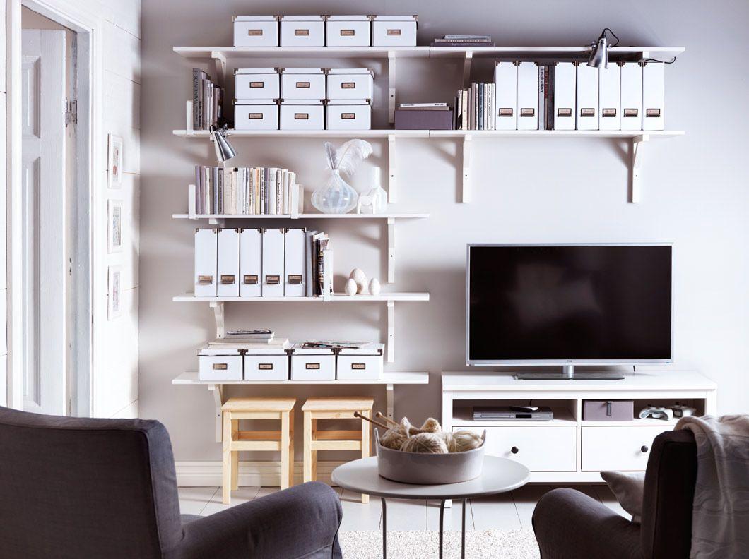 Ekeby Hemnes Ekeby Stilig White Wall Shelves And Hemnes