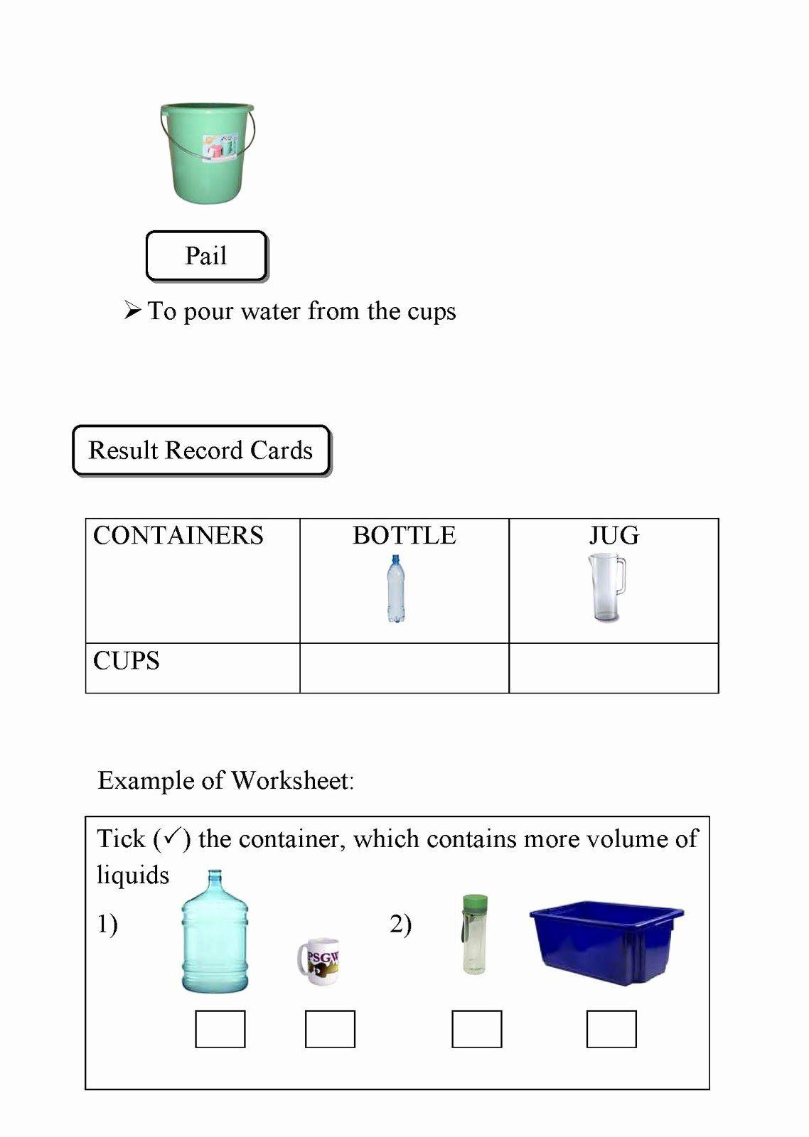 50 Measuring Liquid Volume Worksheet In