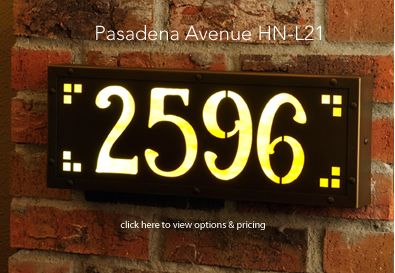 Old California Lantern Company Handmade Bungalow Cottage And Western Style Lighting Illuminated House Numbers House Numbers Custom House Numbers