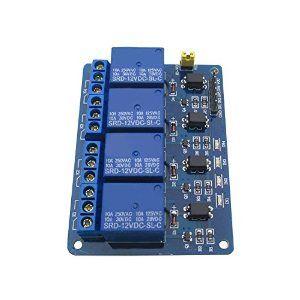 Amazon com: Tolako 4 Channel 12V Relay Module for Arduino