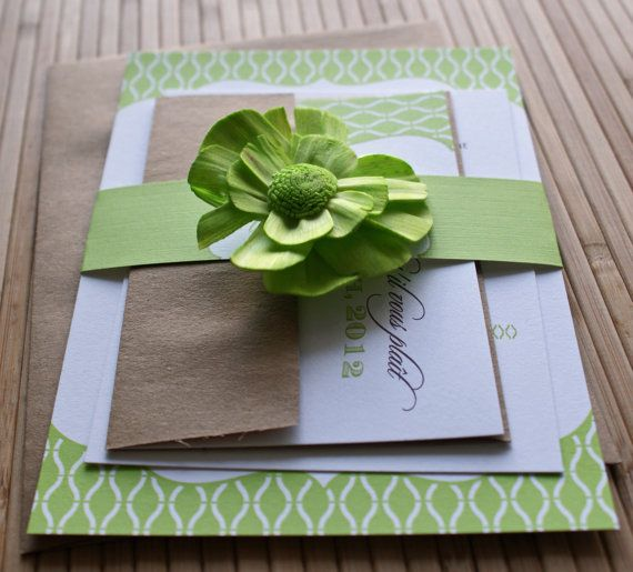 Apple Green Wedding Invitations: Wedding Invitation Lime Green And Brown