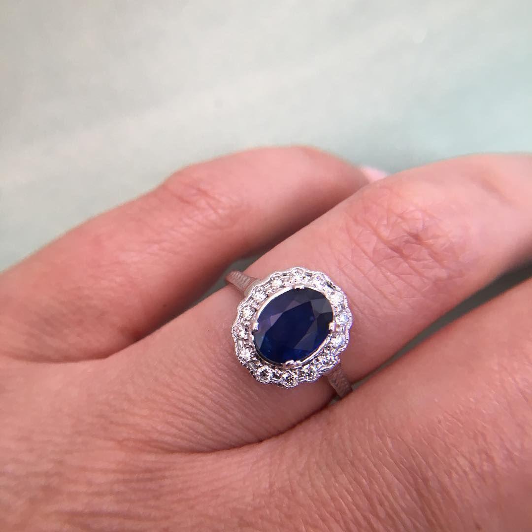 sapphire and diamond ring | Engagement Rings | Pinterest | Sapphire ...
