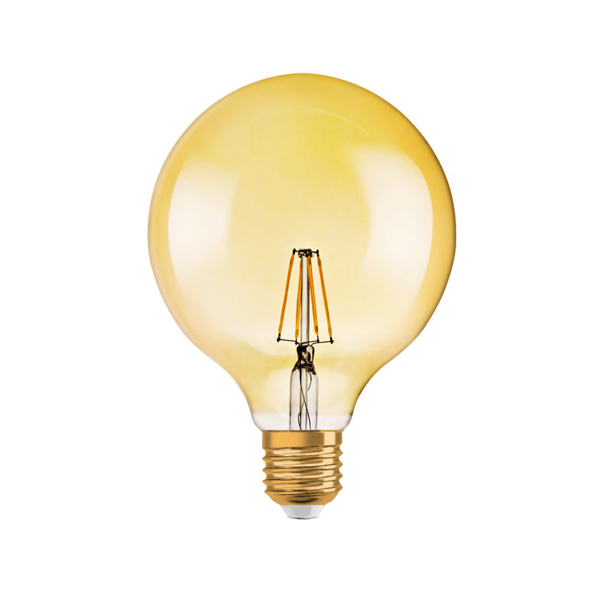 A Golden Globe? Or is it the #Vintage 1906 LED Globe lamp? One thing ...