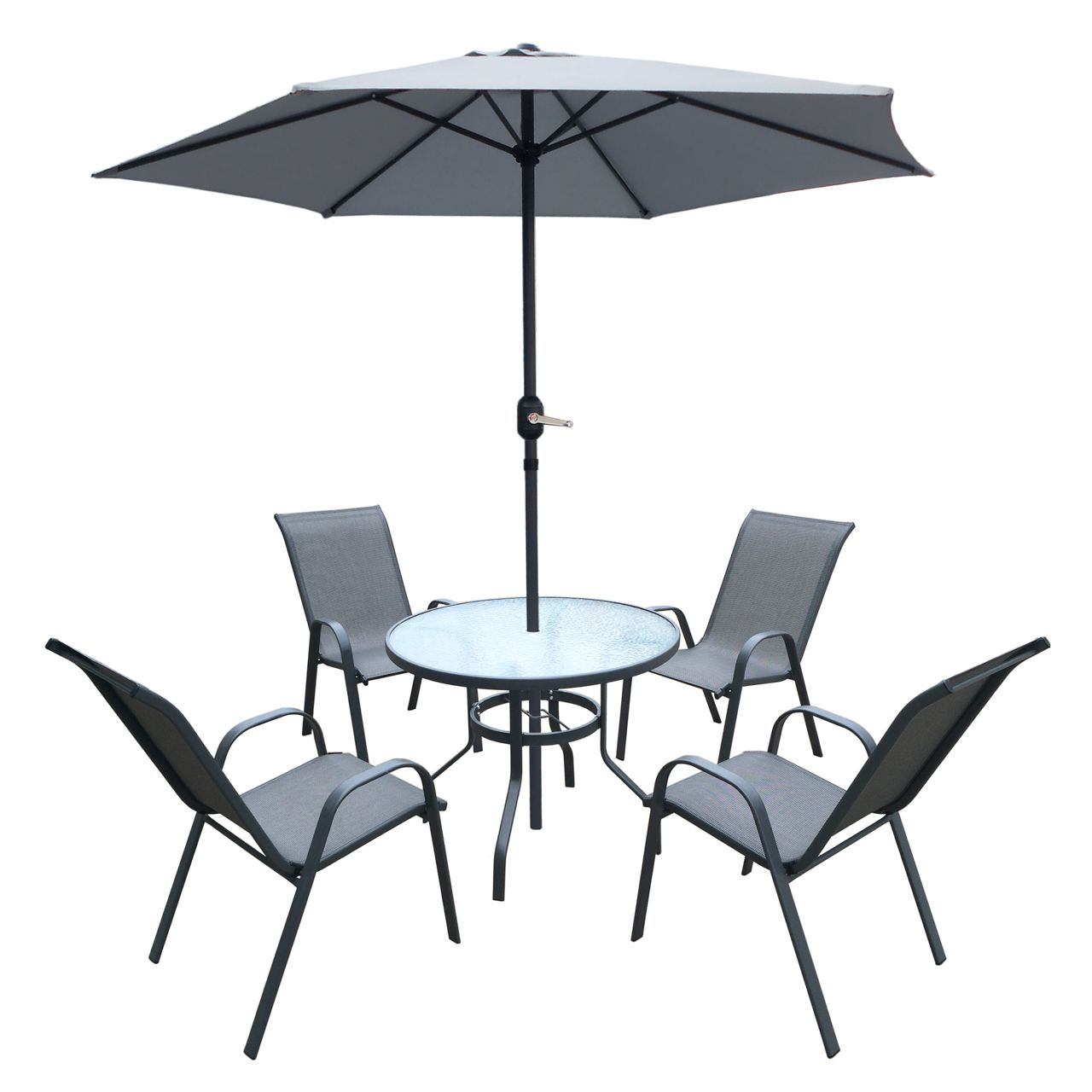 Kingston 6 Piece Steel Patio Set