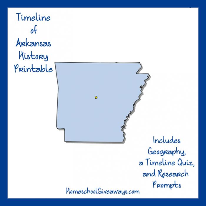 FREE Arkansas State History Printable Arkansas, Homeschool