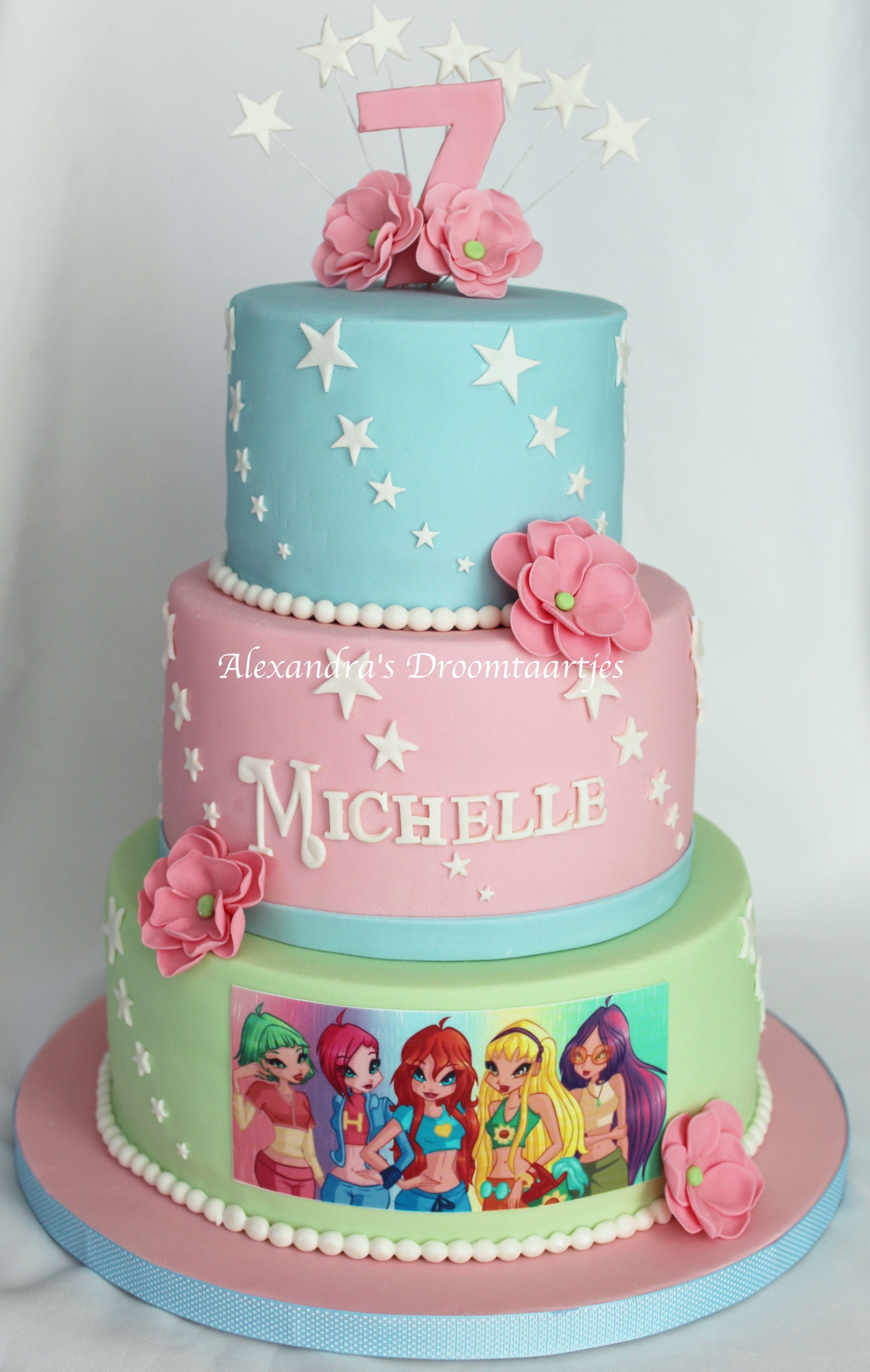 Winx cake winx taart gemaakt voor de verjaardag van een meisje die 7 jaar is geworden - Deco slaapkamer meisje jaar ...