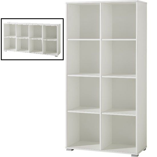 Montreal Shelving Unit In White With 6 Shelf
