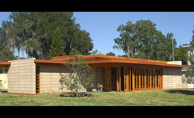Unbuilt Frank Lloyd Wright House Constructed At Florida Southern College