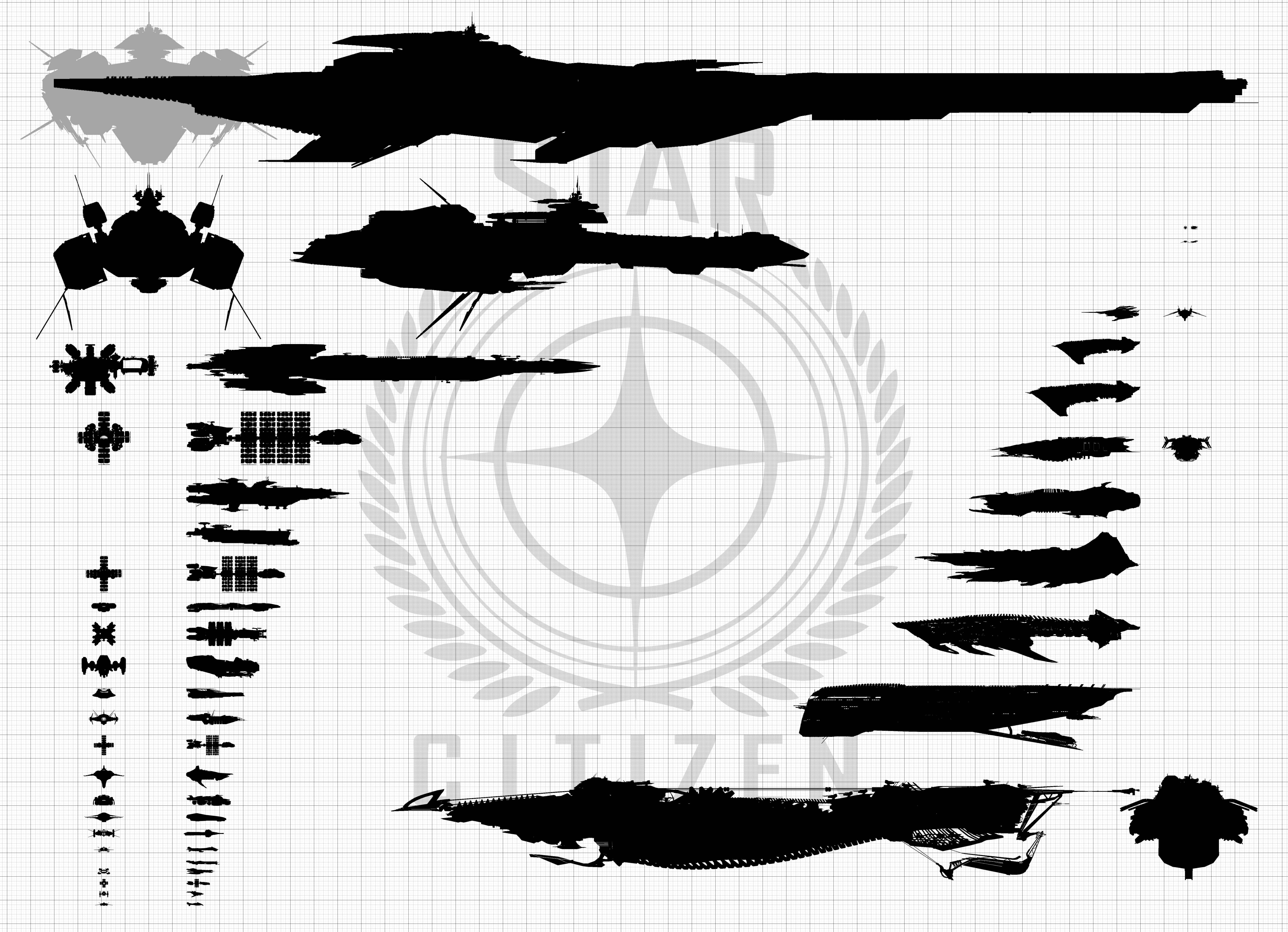star citizen ship size comparison chart - photo #2