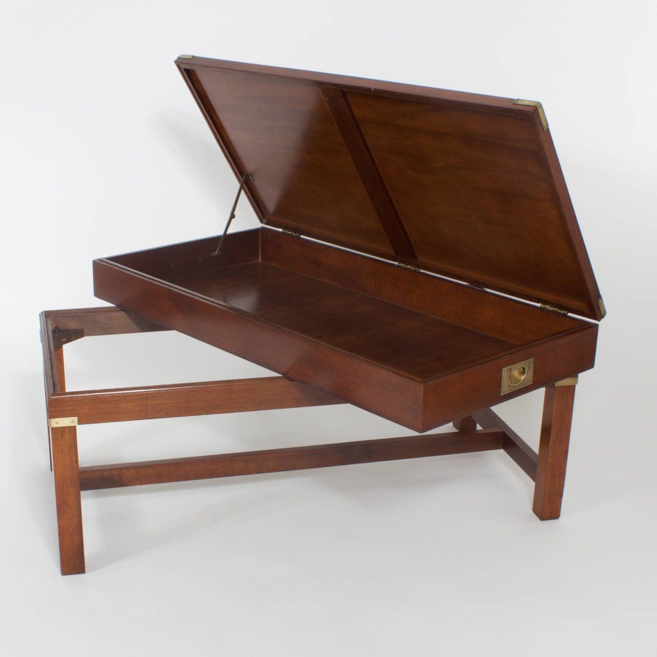 Campaign Gun Case Mounted as a Coffee Table 1950