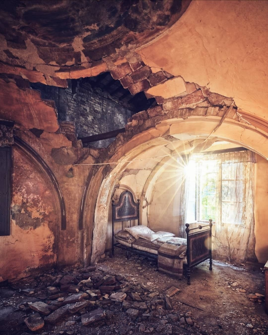"""Beautiful Abandoned Places On Instagram: """"The Inside Of A"""