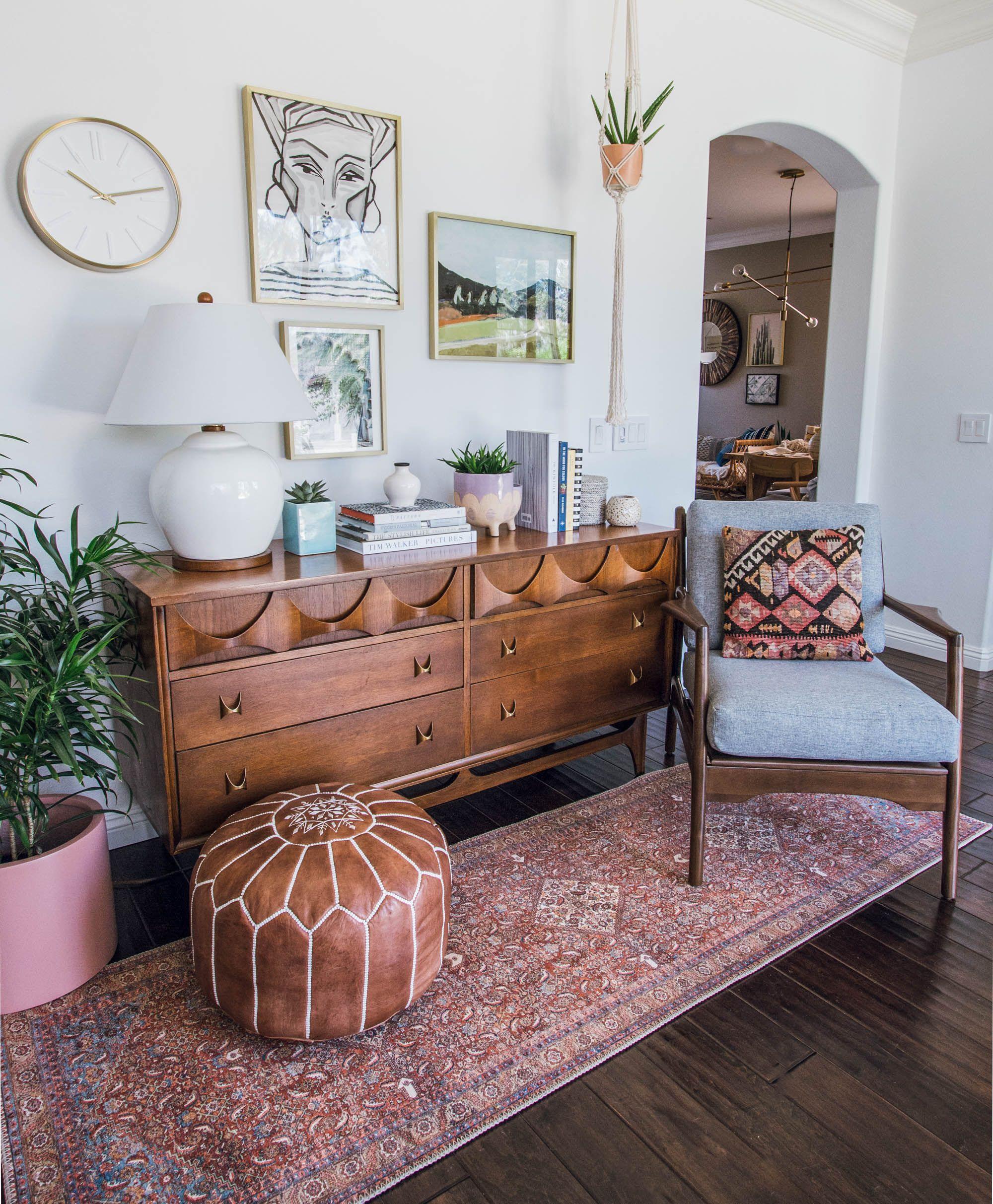 Broyhill brasilia mid century modern furniture loloi runner modern