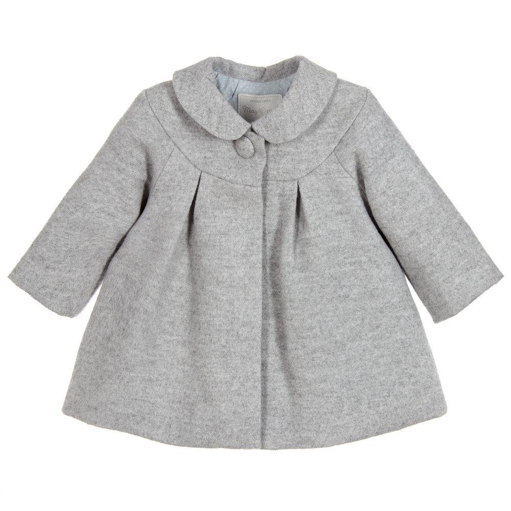 fe6fa37f9 Baby Girls Grey Coat