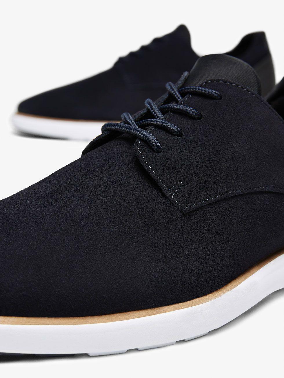 De Serraje Deportivo Hombre Ver Todo Piel Zapatos Azul Ygybf67