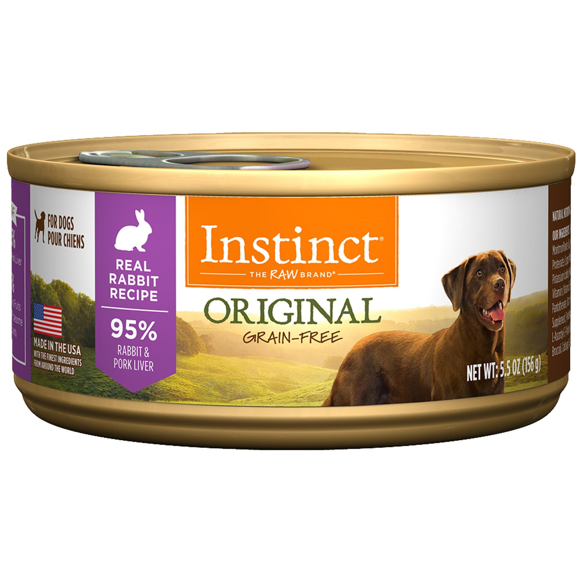 Instinct GrainFree Rabbit Canned Dog Food by Nature's
