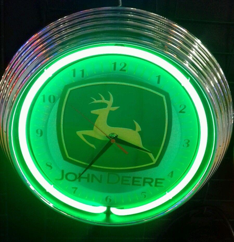 New john deere signwanduhr neon grnbrogarage werkstattgreen new john deere signwanduhr neon grnbrogarage werkstattgreen neon neon clockclocksgaragewall amipublicfo Images