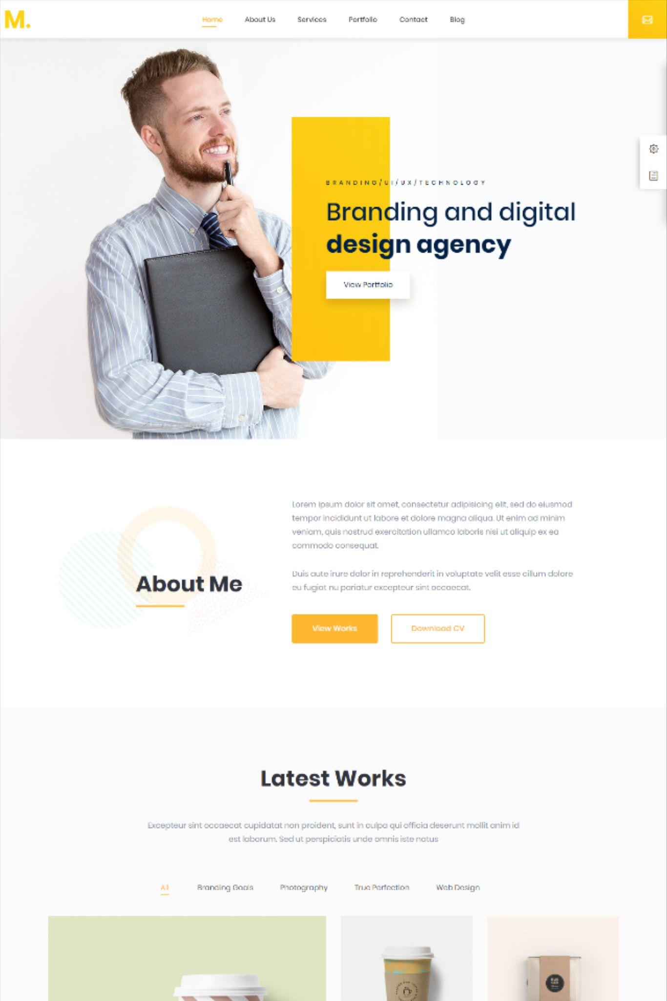 Mak personal portfolio resume wordpress theme