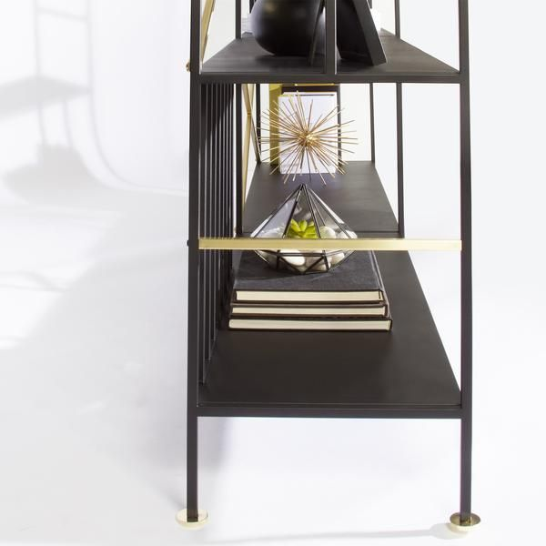 Black Horizontal Bookcase