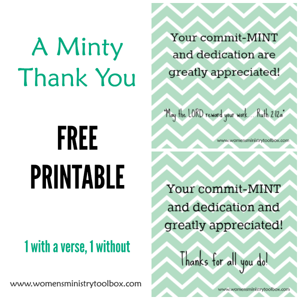 Gorgeous image intended for thank you for your commit mint printable