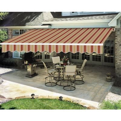Everite Manual Retractable Awning 12 Feet X 8 Feet 328 132 Home Depot Canada Garden Retractable Awning Outdoor Decor Ornamental Mouldings