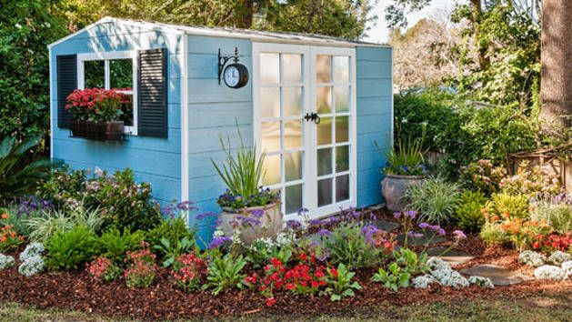 This renovated shed is pretty enough to consider using as a     This renovated shed is pretty enough to consider using as a guesthouse   Learn how to change the look of your garden shed by adding cladding on top of  the