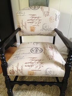 GORGEOUS reupholstered chair!