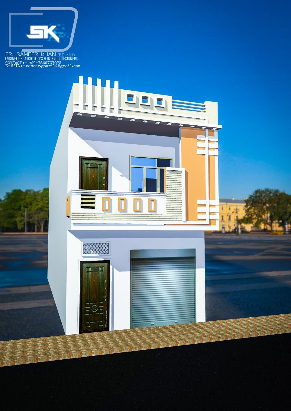 House Front Design House Design Front Elevation Designs: Introducing Modern Indian House Exterior Elevation With 15' Front