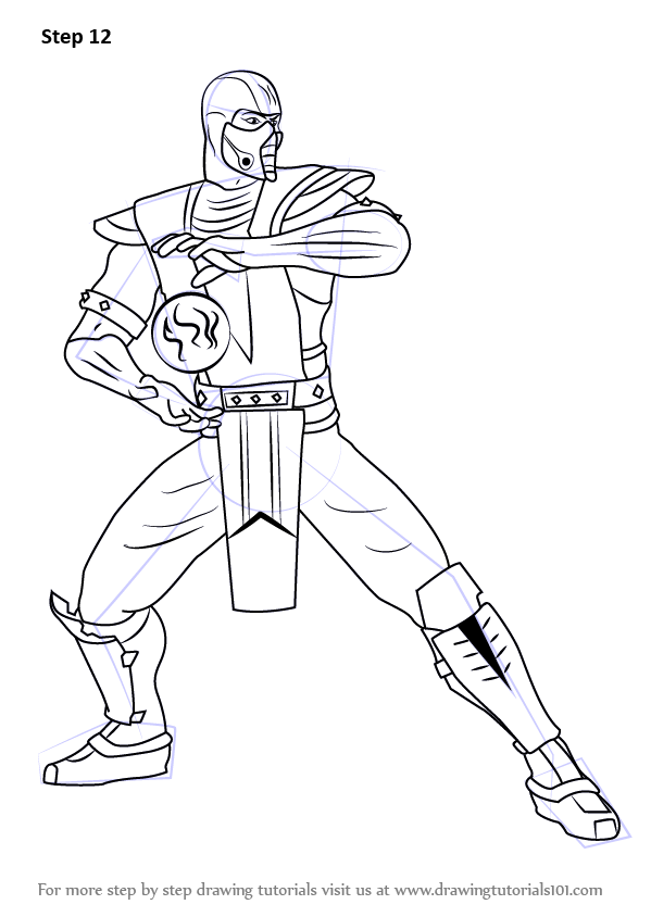 Learn How to Draw Sub-Zero from Mortal Kombat (Mortal