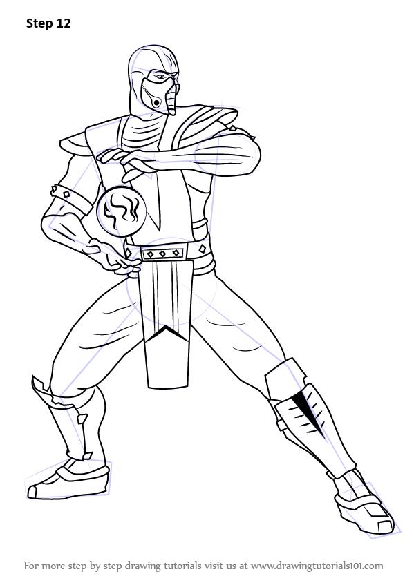 Learn How to Draw SubZero from Mortal Kombat (Mortal