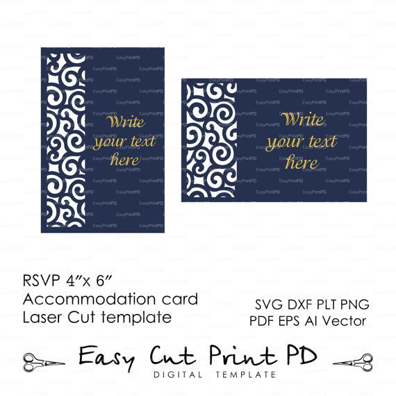 Rsvp accommodation card 4x 6 template swirls stencil scroll door rsvp accommodation card 4x 6 template swirls stencil scroll door gate folds svg dxf ai eps laser cut instant download silhouette cameo stopboris Gallery