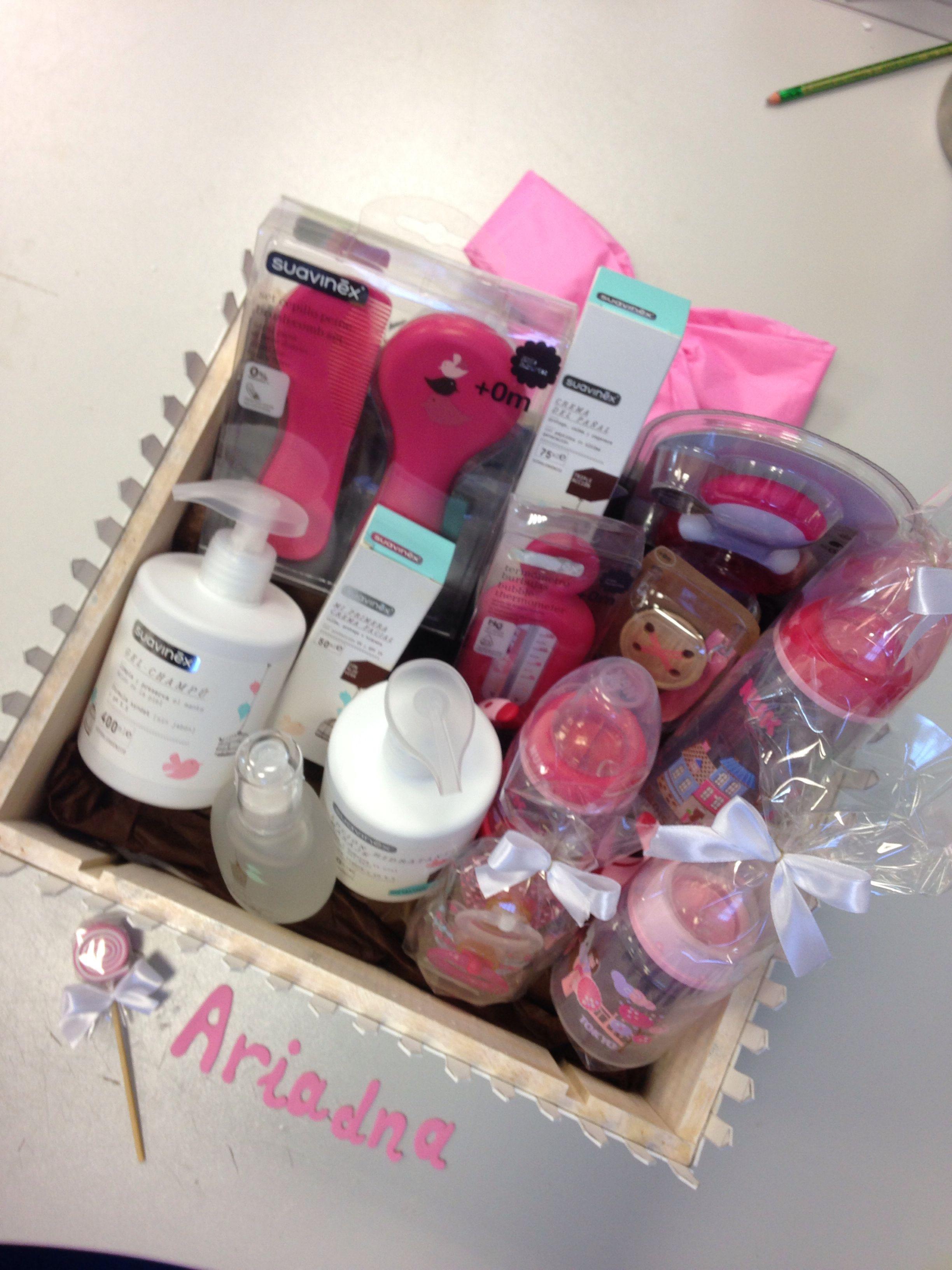 Canastillas productos farmacia bebe