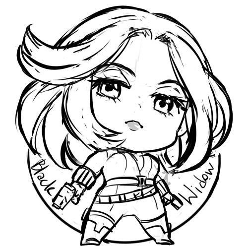 captain america chibi | Tumblr | LineArt: Black Widow | Pinterest ...