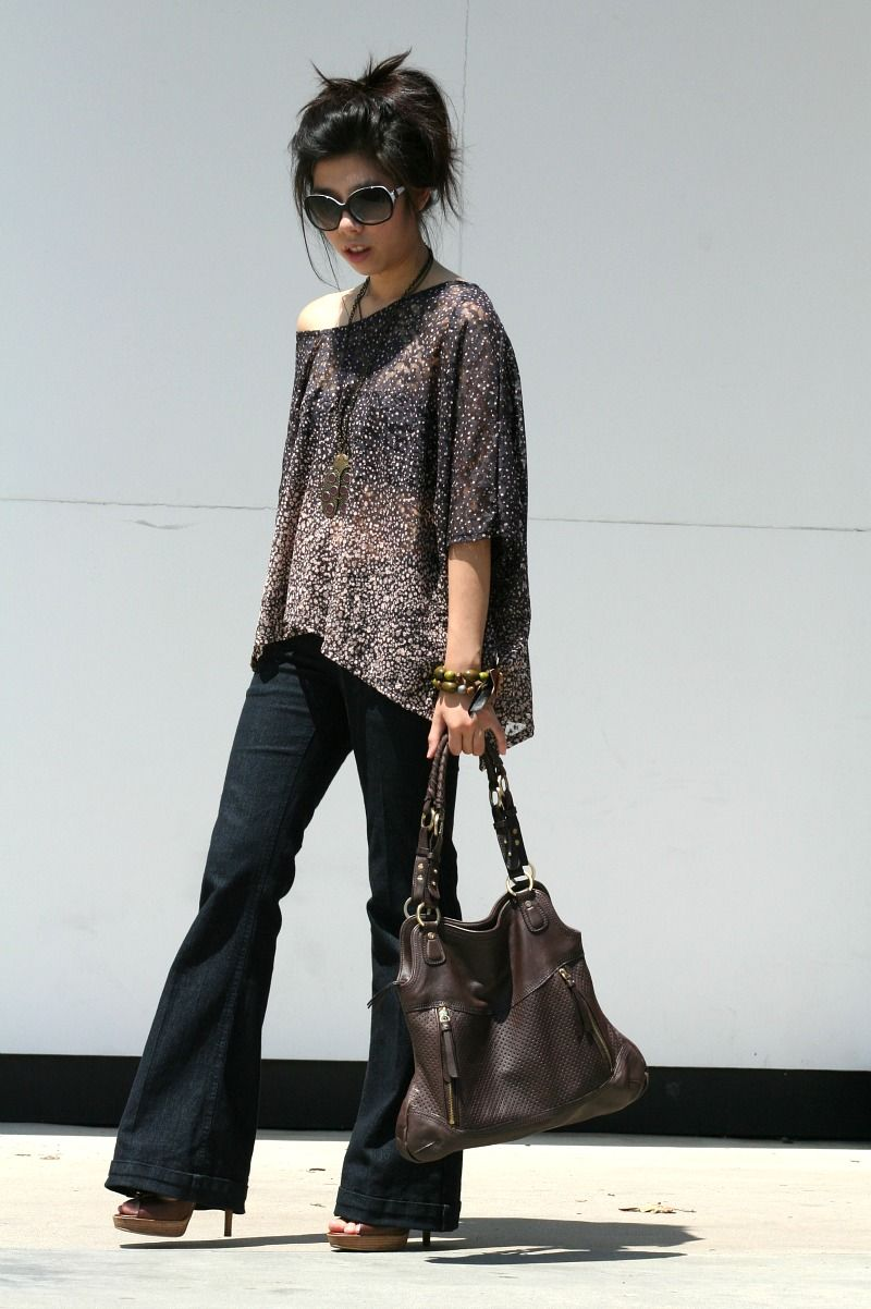 b28a9ee2c4e Powdered Dust -    See Thru Soul Pants    Harajuku Lovers Heels    Adrienne  Vittadini Bag    Chanel Sunglasses    Lucky Brand Necklace    Lucky Brand  ...