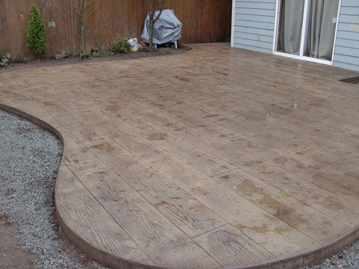 Stamped Concrete Ideas - Stamped Concrete Patio Designs
