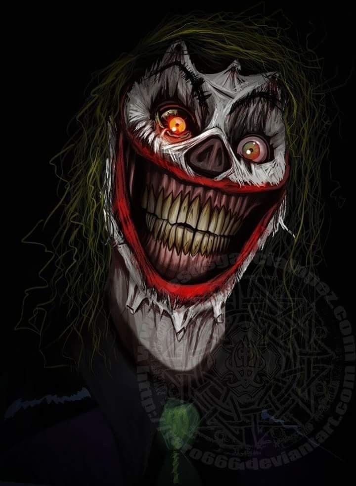 creepy psychotic clown the joker is extremely dangerously and