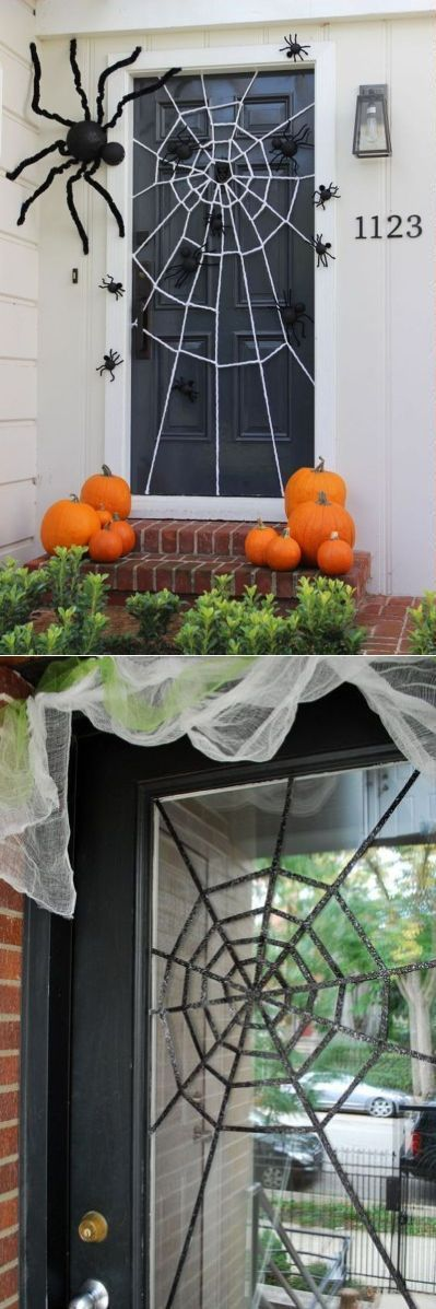 Quick Halloween decorating tips for your home - scary door decorations for halloween