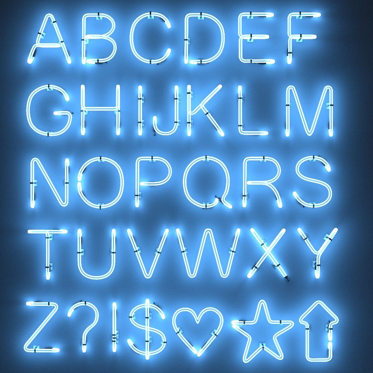 Searched 3d models for Neon Tube Alphabet Neon
