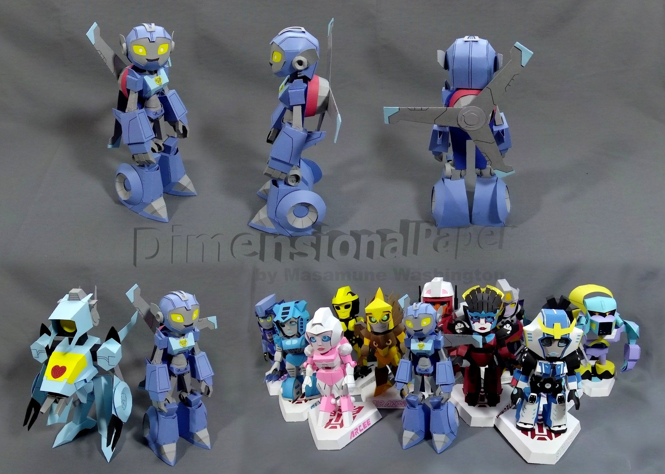Transformers Rescue Bots Academy Trainee Whirl Cardmodel By Masamune Washington Transformers Rescue Bots Rescue Bots Transformers